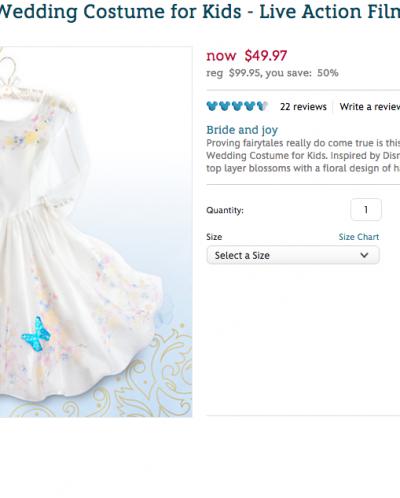 Нарядное платье на новый год от Disney