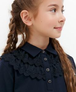 Блузка детская для девочек Okkervil темно-синий