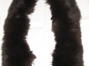 Мех опушка-воротник песец длинный. Тёмно-коричневы