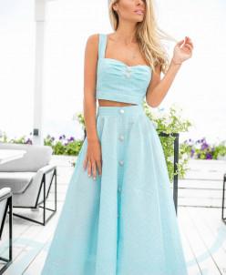 Симпатичный юбочный костюм Gepur