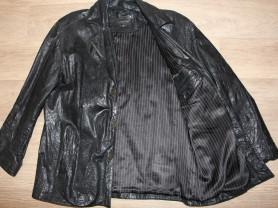 Кожаный пиджак 54р
