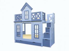 Кровать-домик (двухъярусная)