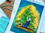 Адвент Нового года в открытках со сказками