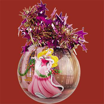 "Шар ""Уолт Дисней"" (Спящая красавица Аврора), диаметр 95 мм,"