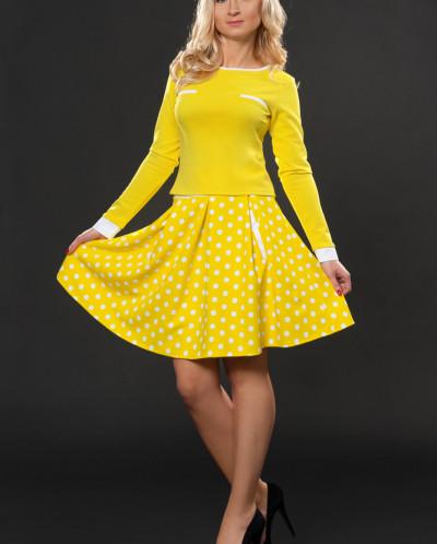 Костюм № 635-желтый