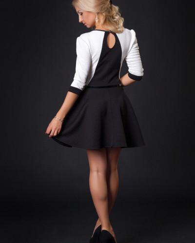 Платье № 880-черный