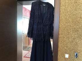 Платье с кружевным пиджаком р.52-54