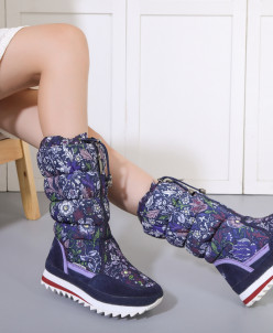 Дутики King Boots KB570DB Dunkelblau Темно-синий