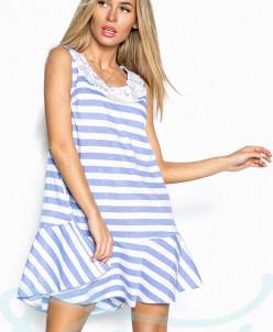Полосатое платье Gepur с кружевом