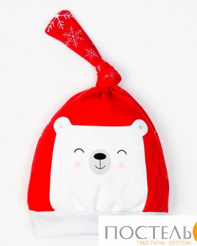 "Чепчик (шапочка) ""Новогодний медвежонок"