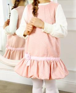 Сарафан розовый с декором