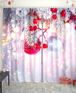 Фотошторы Новогодняя коллекция 125 Габардин
