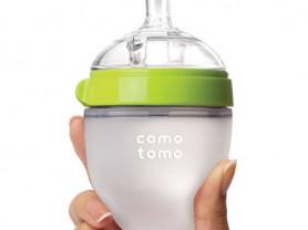 Бутылочка comotomo 150 мл зелёная, розовая.