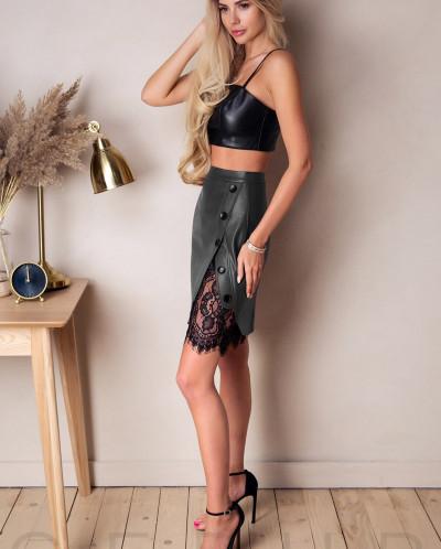 Актуальная юбка с кружевом