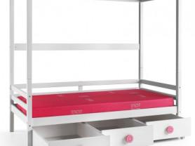Кровать 90×200см с каркасом для балдахина