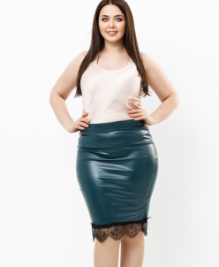 Женская юбка 18551 темный зеленый