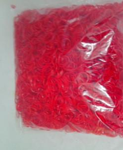 Набор резинок для плетения в пакетике 5000 шт красный