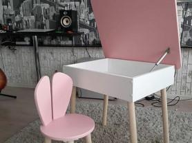 Комплект детской мебели-стол с крышкой + стульчик