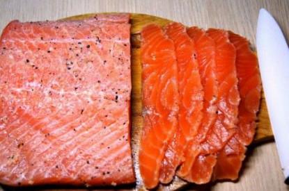 Лосось слабой соли с розовым перцем, Disa's Fish, 1 кг