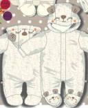 Утепленный велюровый комбинезон для малыша