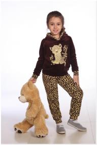 """Костюм """"Маленькая модница Леопард"""" из велюра"""