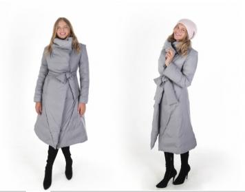Пальто Женское светло-серый матовый