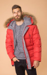 Теплый стеганный пуховик с капюшоном MR 102 1666 0819 Red