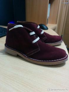 Ботинки замшевые (Испания) 35 размер