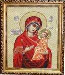 Тихвинская икона Божьей Матери- (Гобеленовая картина)