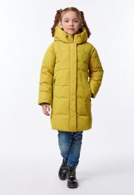 """Пальто """"Альба"""" желтое"""