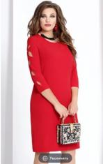 Платья Модель 6463-1 красный VITTORIA QUEEN      Производите