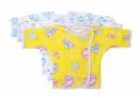Кофточка-распашонка для новорожденного, с длинным рукавом
