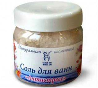 Соль для ванн Антистресс 450 г, Белый Кот