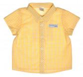 "Рубашка ""Гонки"", желтая клеточка 30001-38"