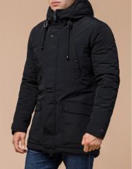 Парка модная зимняя черного цвета модель 36640-1
