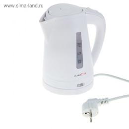 Чайник электрический LuazON LPK-1001, 1 л, 2200 Вт, белый