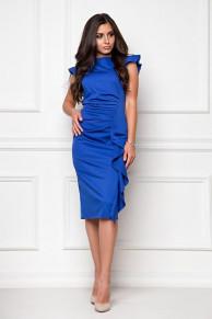 Платье из костюмной ткани синий (П-37-1)