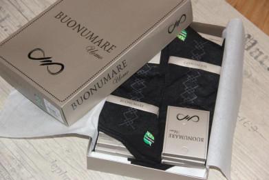 Носки Бамбук, черный 12 шт. в подарочной упаковке