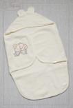 """Махровое полотенце-кокон для купания с кап-ом """"Мишка с банто"""