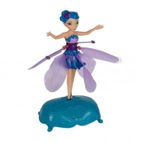 Летающая фея Flying Fairy с подсветкой и музыкой, голубая