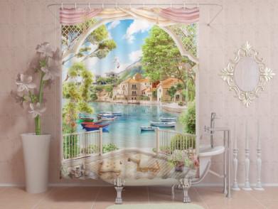 Фотоштора для ванной Место для отдыха 1