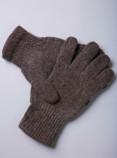 """Перчатки из шерсти """"Як"""" шоколадный, Монголия"""
