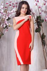 Платье 713. Красный. Плательная ткань