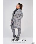Пальто №496-1-Серый