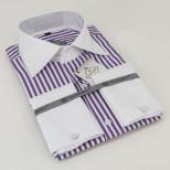 Мужская рубашка манжет под запонку Tunica Benefit