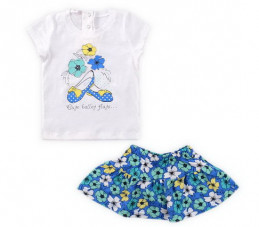 "Комплект ""Весенняя поляна"" (футболка, юбка) Crockid"