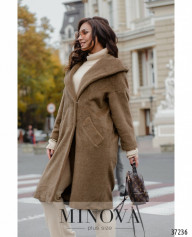 Пальто №0333-Темно-Бежевый