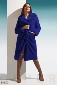 Мягкая шуба Gepur глубокого синего цвета