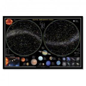 """""""Звездное небо"""" планеты 58x38, ламинированная карта"""