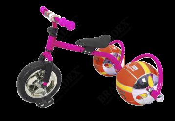 Велосипед с колесами в виде мячей «БАСКЕТБАЙК» розовый (Bike